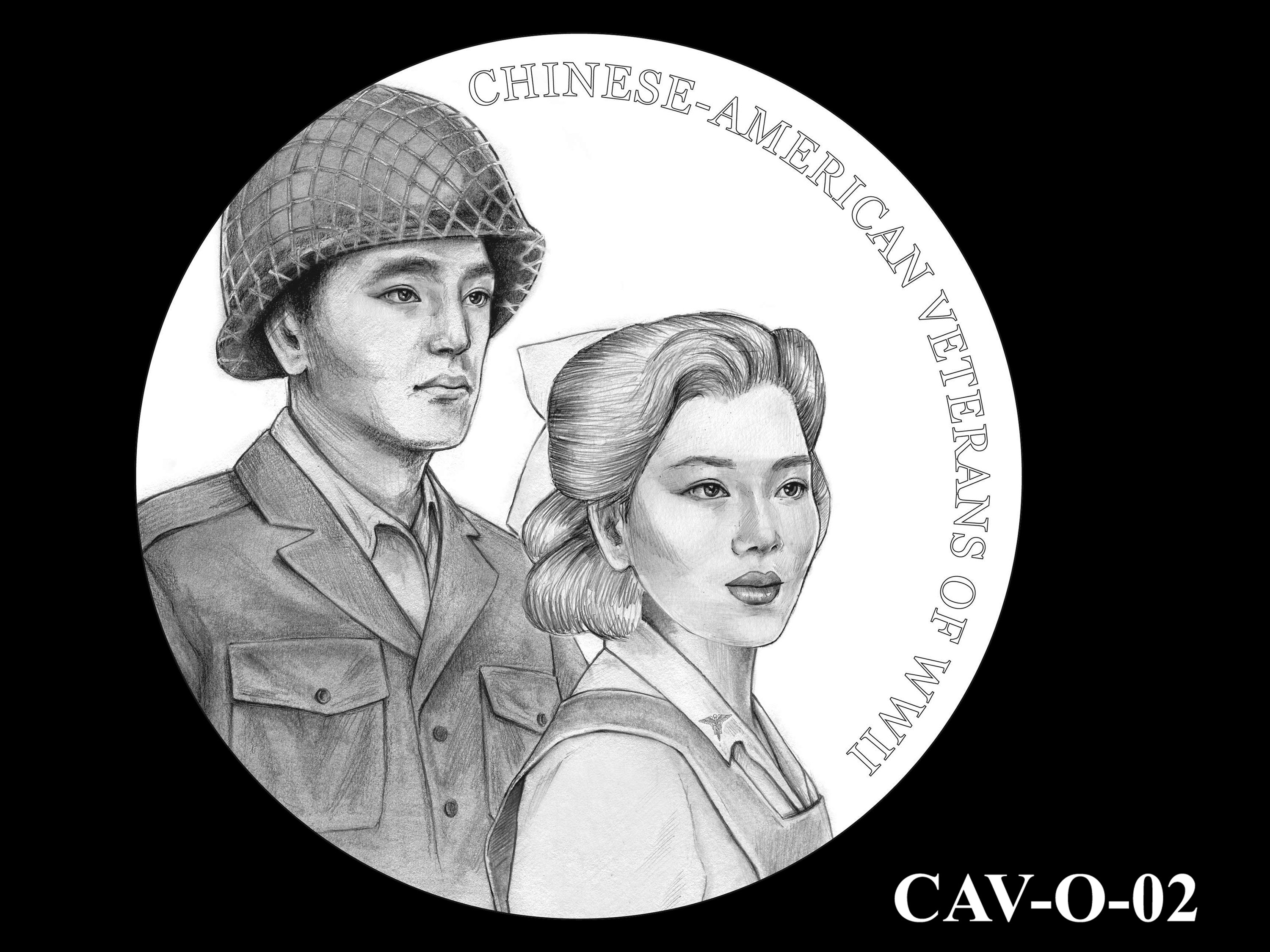 CAV-O-02 -- Chinese-American Veterans of World War II Congressional Gold Medal - Obverse