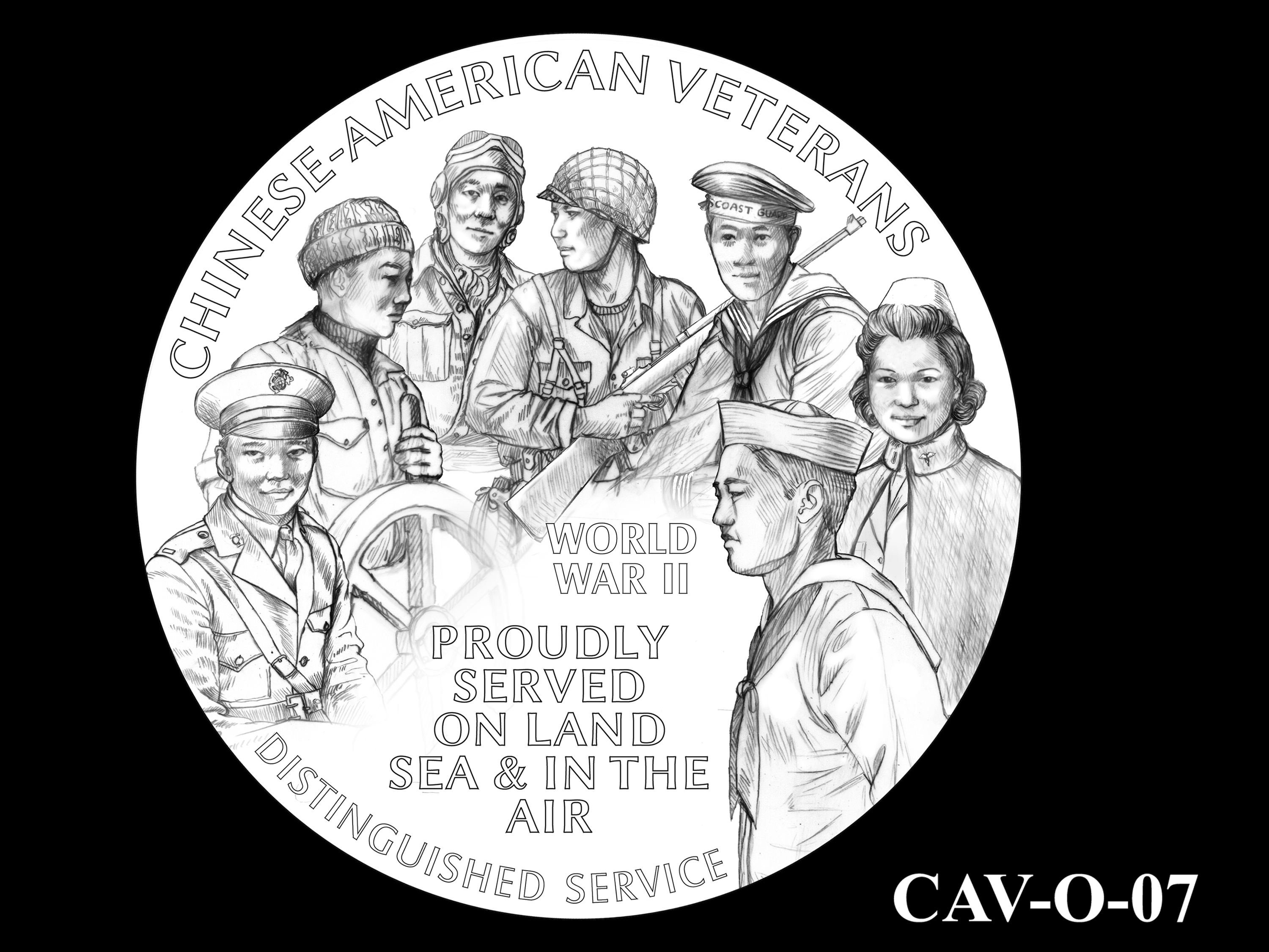 CAV-O-07 -- Chinese-American Veterans of World War II Congressional Gold Medal - Obverse