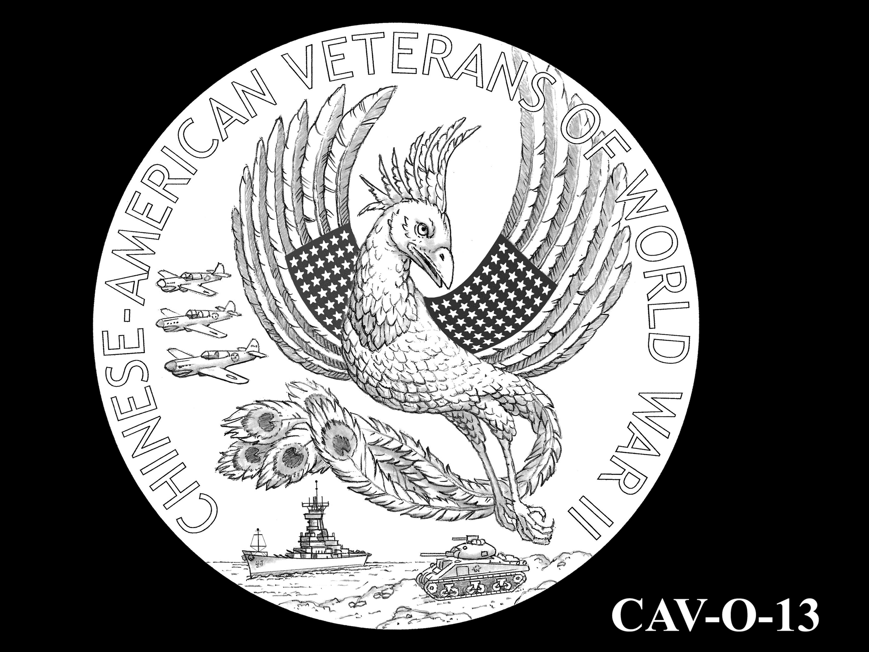 CAV-O-13 -- Chinese-American Veterans of World War II Congressional Gold Medal - Obverse