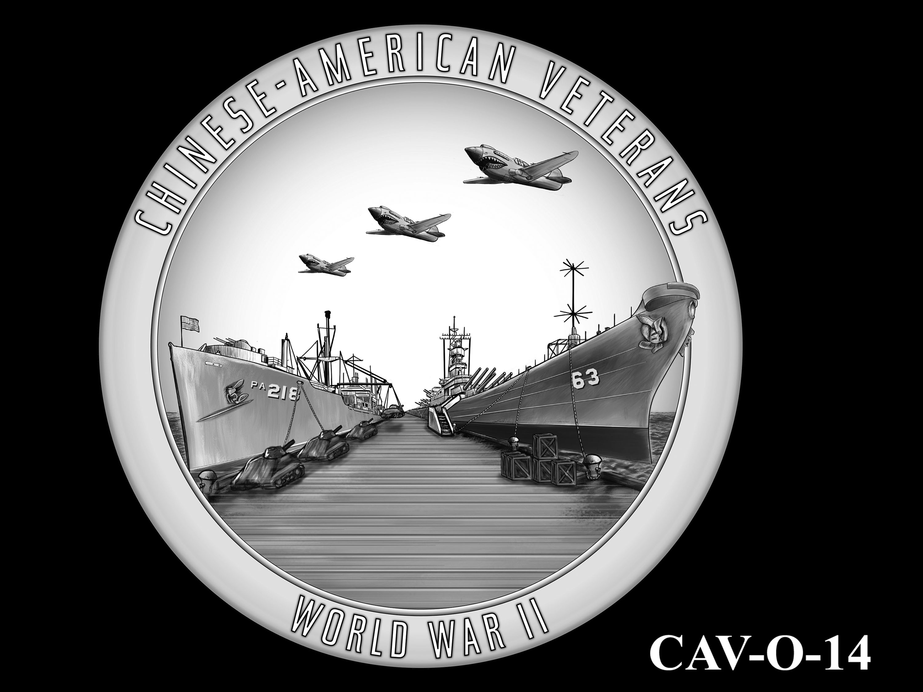 CAV-O-14 -- Chinese-American Veterans of World War II Congressional Gold Medal - Obverse