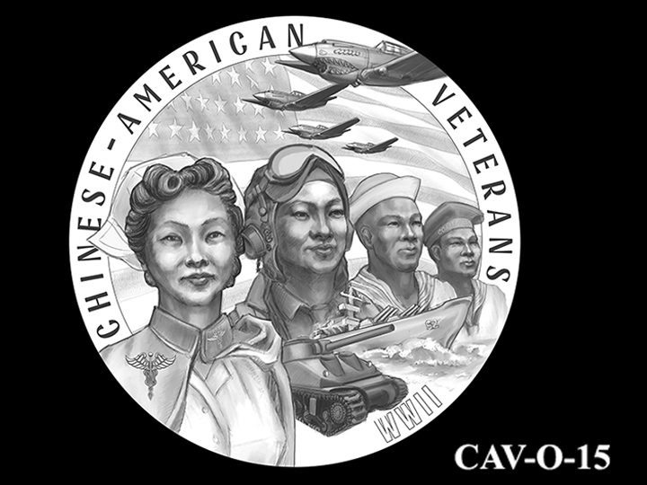 CAV-O-15 -- Chinese-American Veterans of World War II Congressional Gold Medal - Obverse