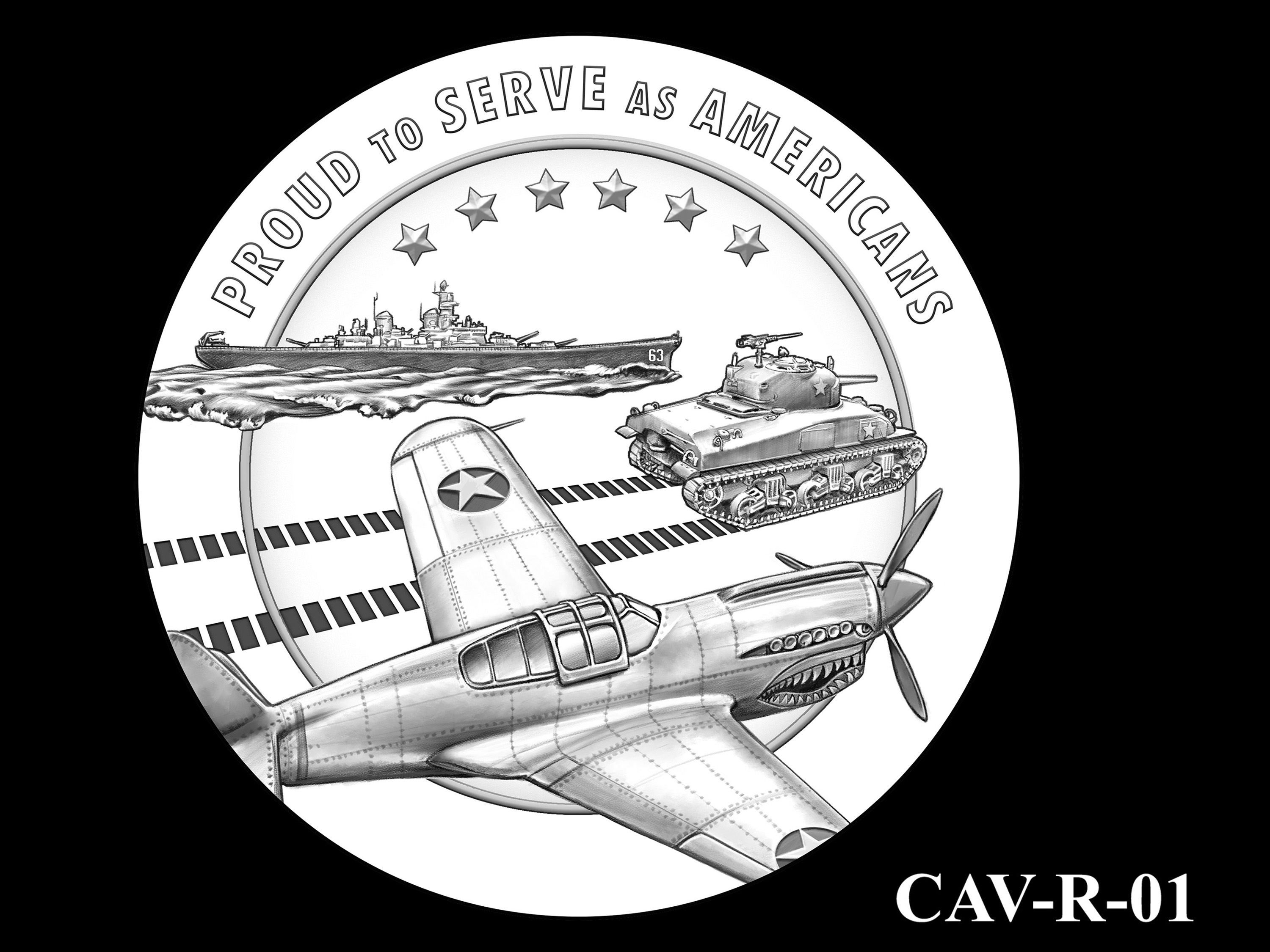 CAV-R-01 -- Chinese-American Veterans of World War II Congressional Gold Medal - Reverse