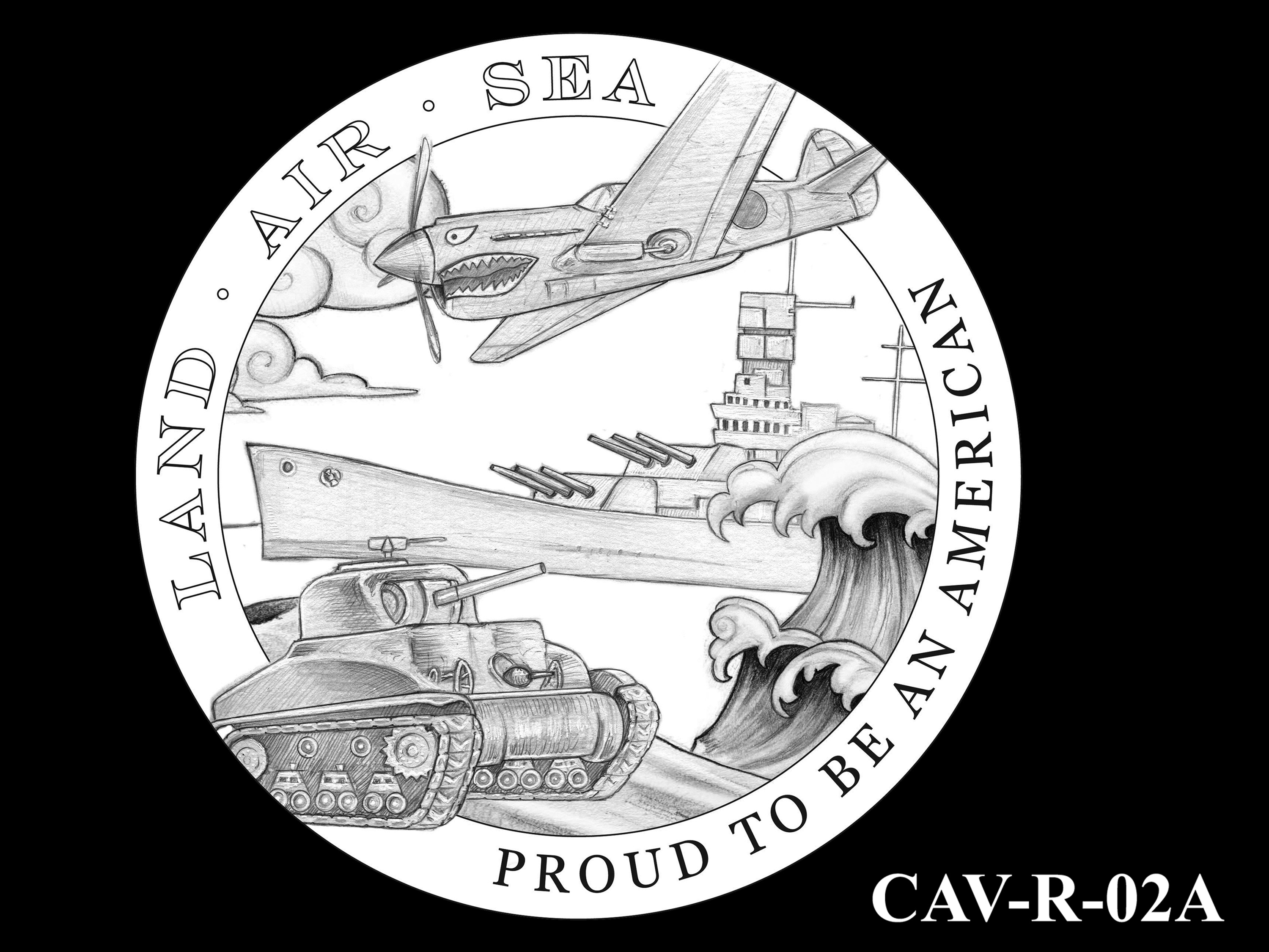 CAV-R-02A -- Chinese-American Veterans of World War II Congressional Gold Medal - Reverse
