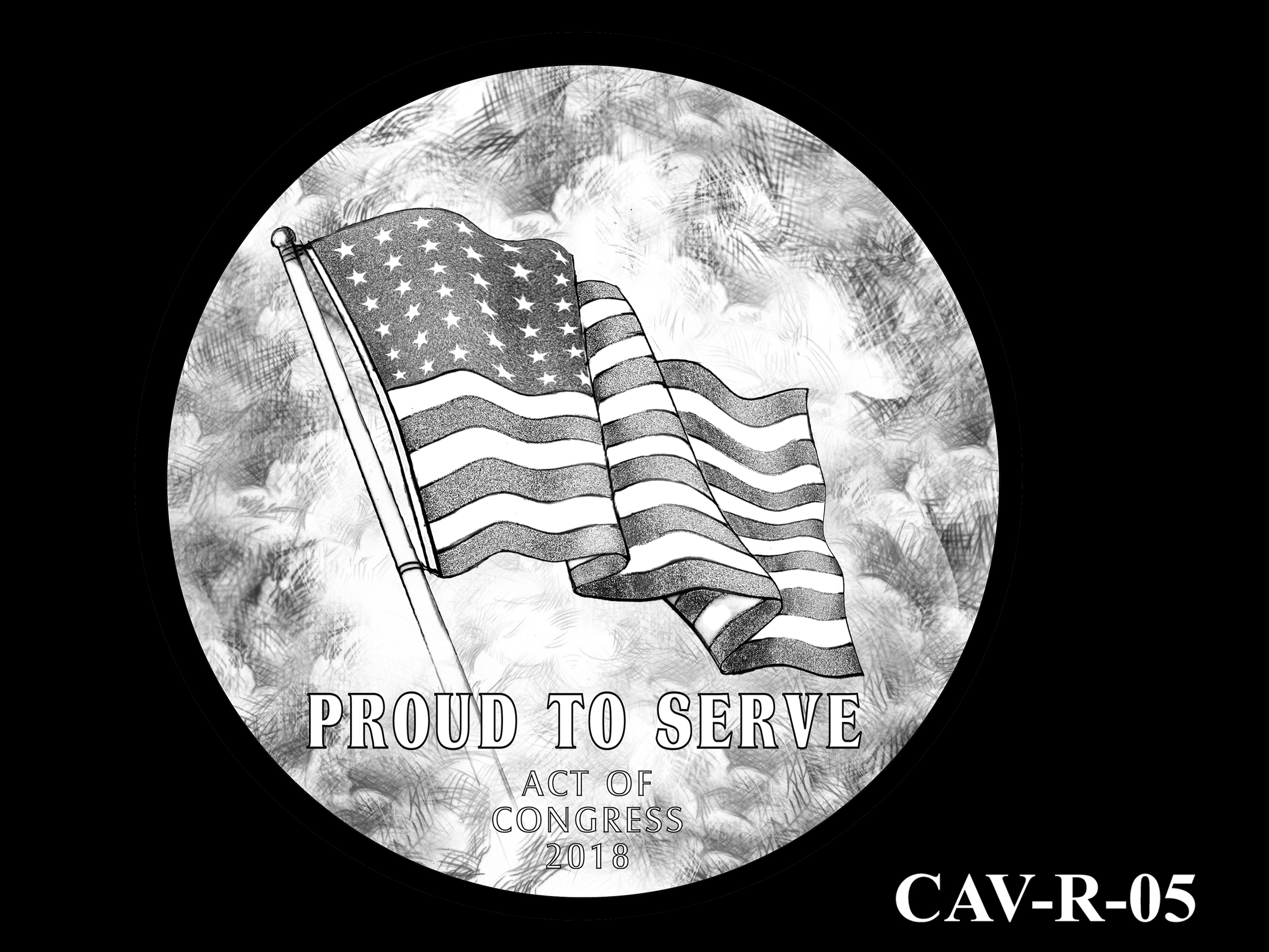 CAV-R-05 -- Chinese-American Veterans of World War II Congressional Gold Medal - Reverse