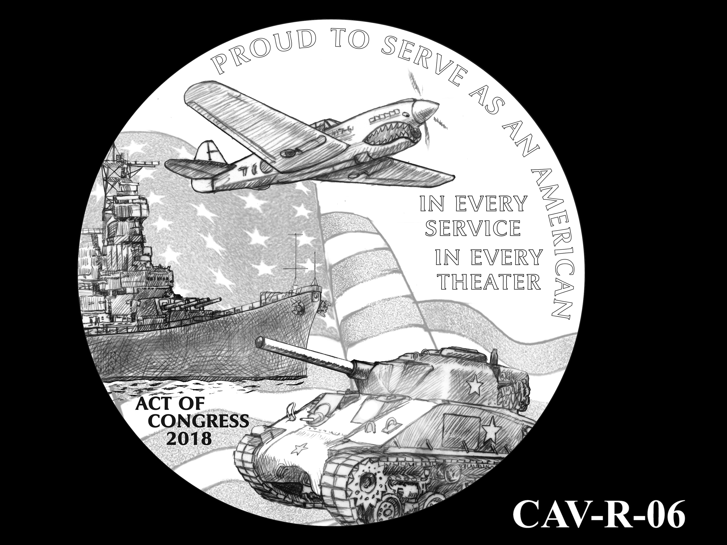 CAV-R-06 -- Chinese-American Veterans of World War II Congressional Gold Medal - Reverse