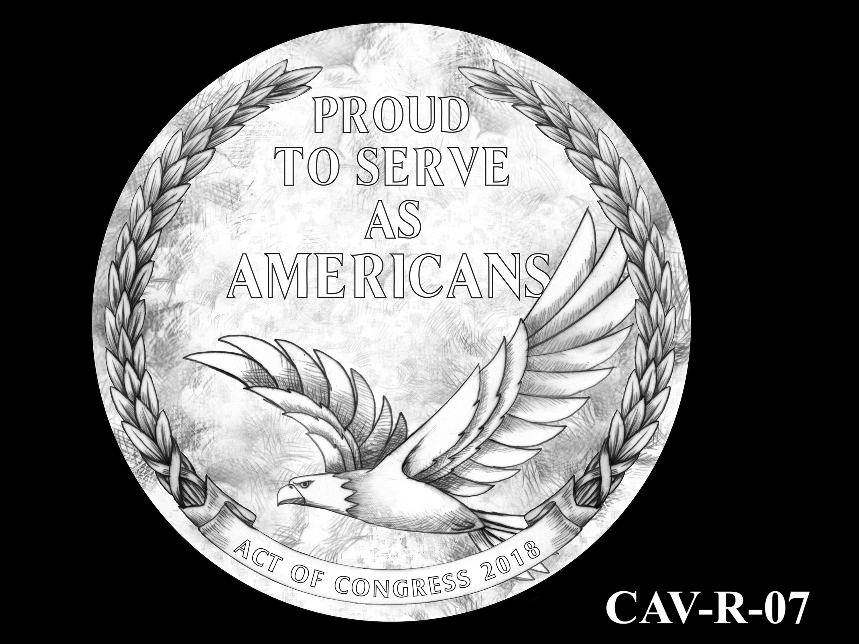 CAV-R-07 -- Chinese-American Veterans of World War II Congressional Gold Medal - Reverse