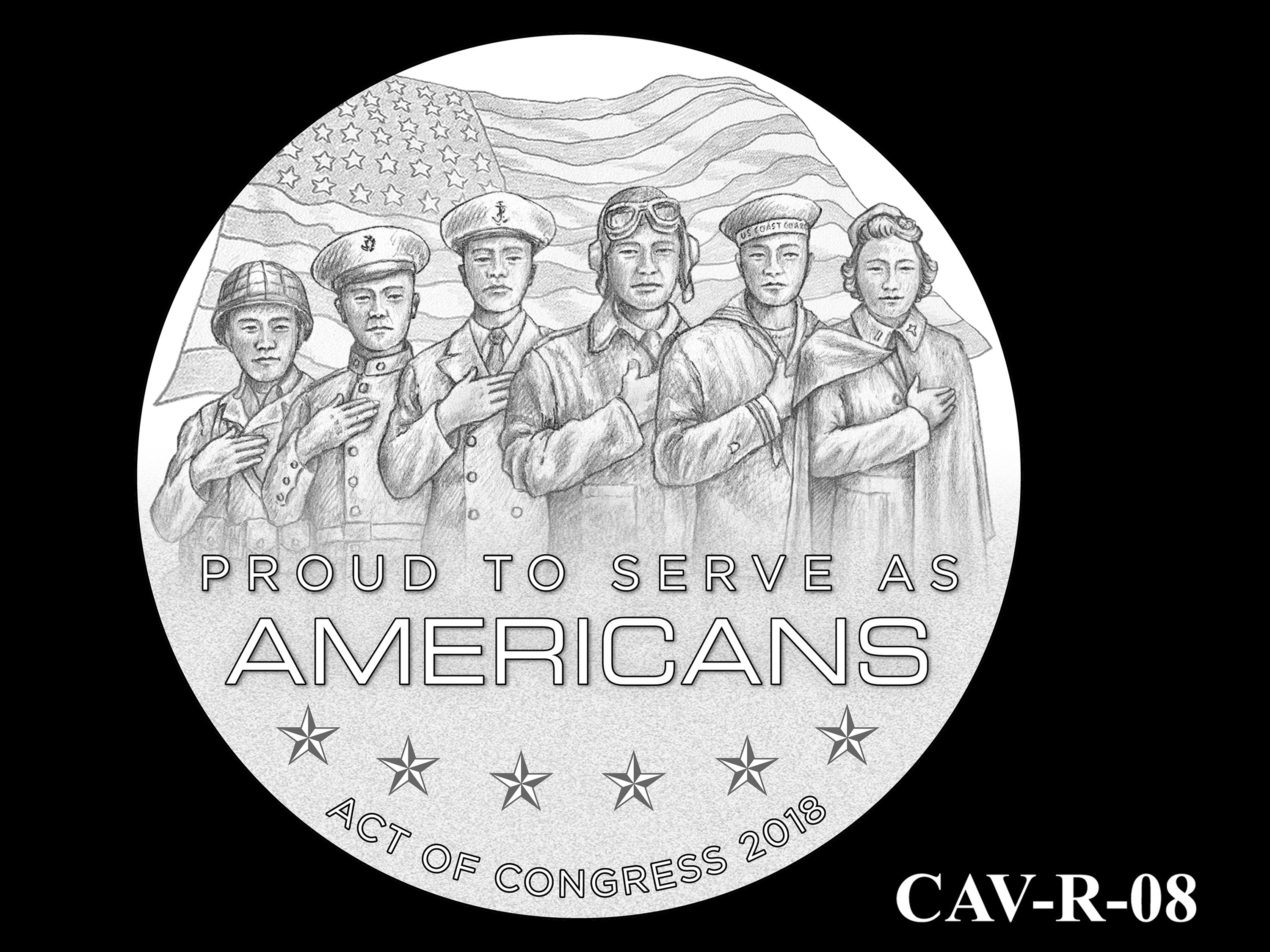 CAV-R-08 -- Chinese-American Veterans of World War II Congressional Gold Medal - Reverse