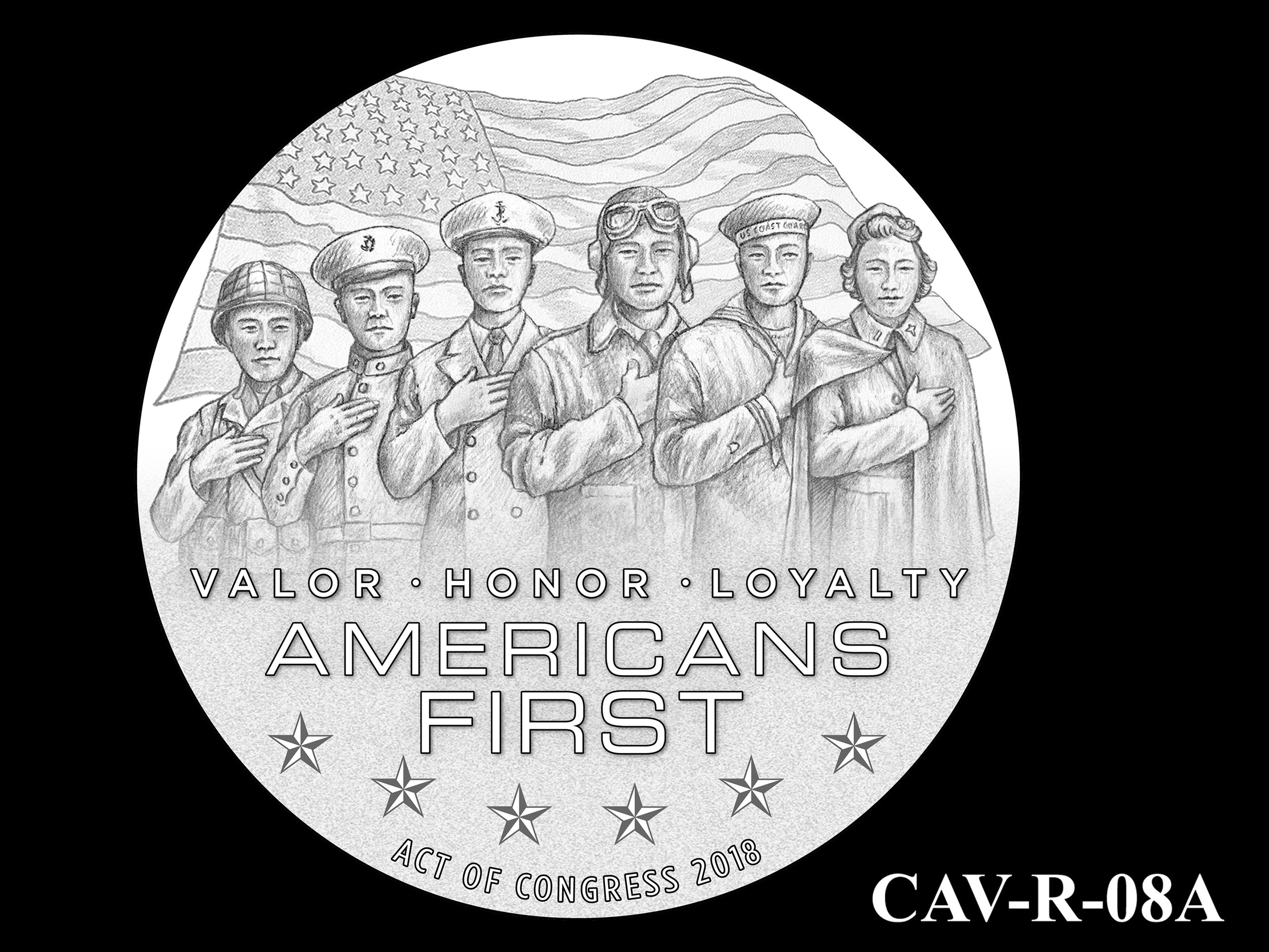 CAV-R-08A -- Chinese-American Veterans of World War II Congressional Gold Medal - Reverse
