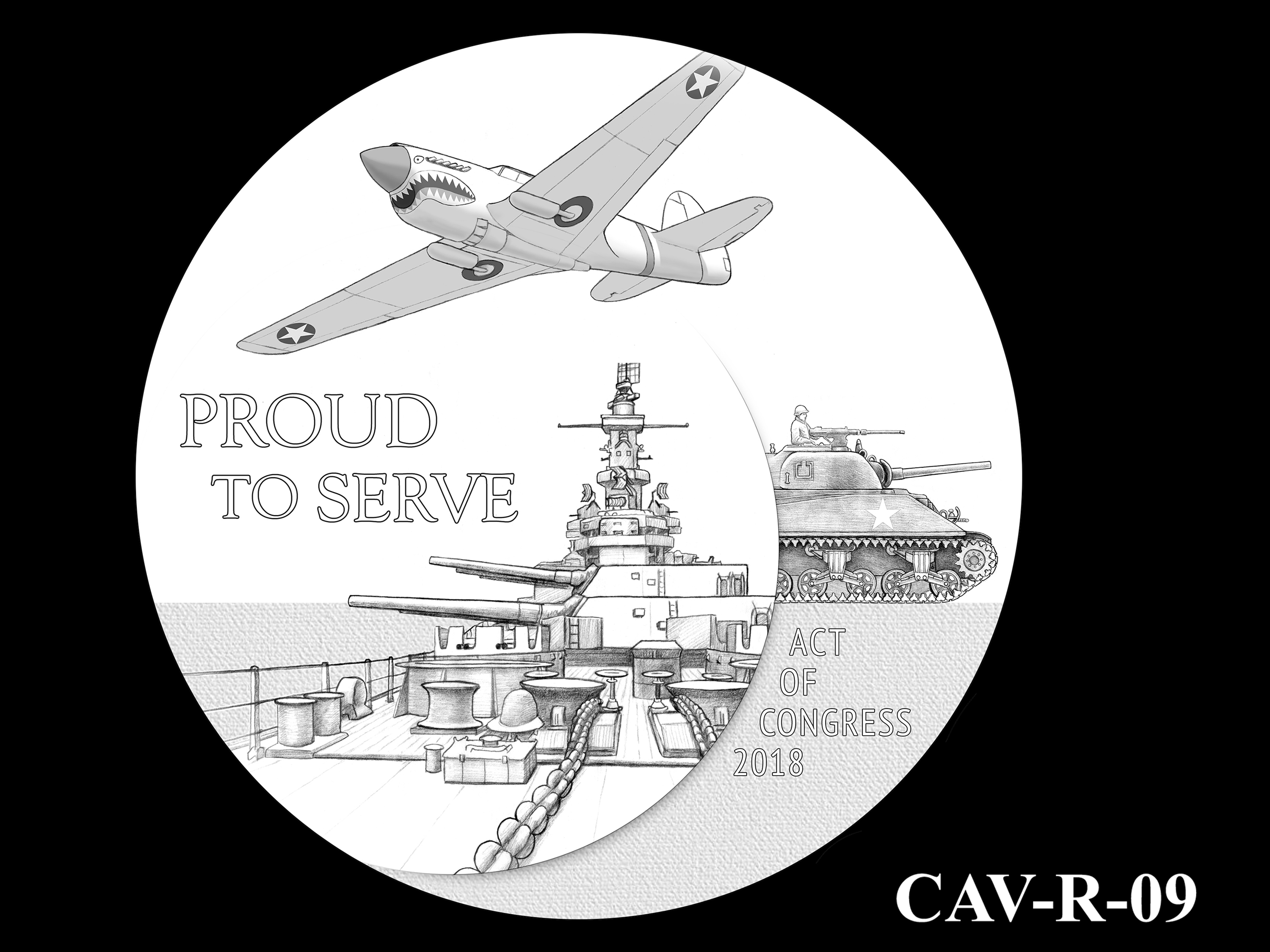 CAV-R-09 -- Chinese-American Veterans of World War II Congressional Gold Medal - Reverse