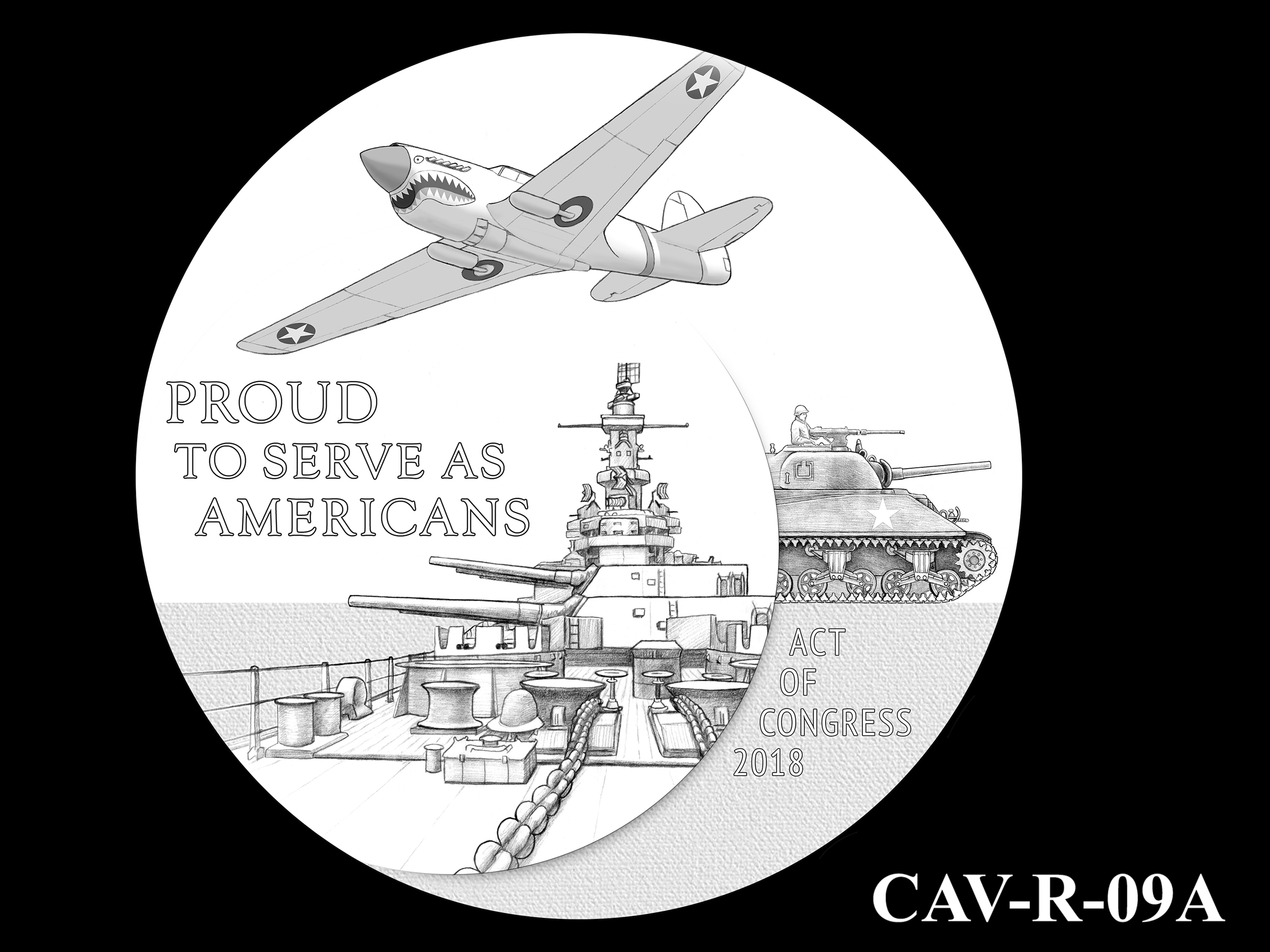 CAV-R-09A -- Chinese-American Veterans of World War II Congressional Gold Medal - Reverse
