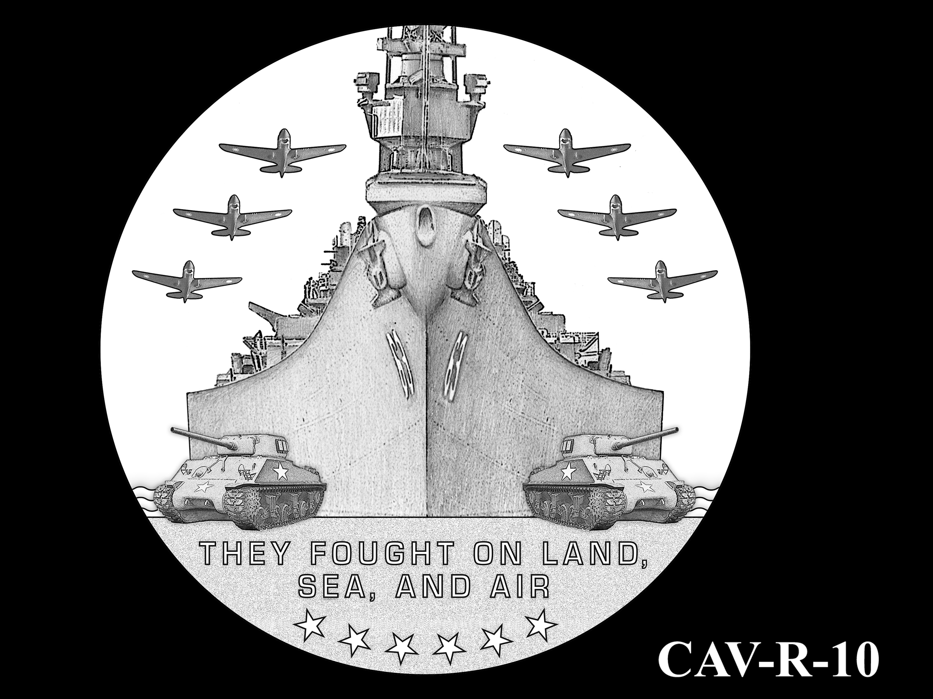 CAV-R-10 -- Chinese-American Veterans of World War II Congressional Gold Medal - Reverse
