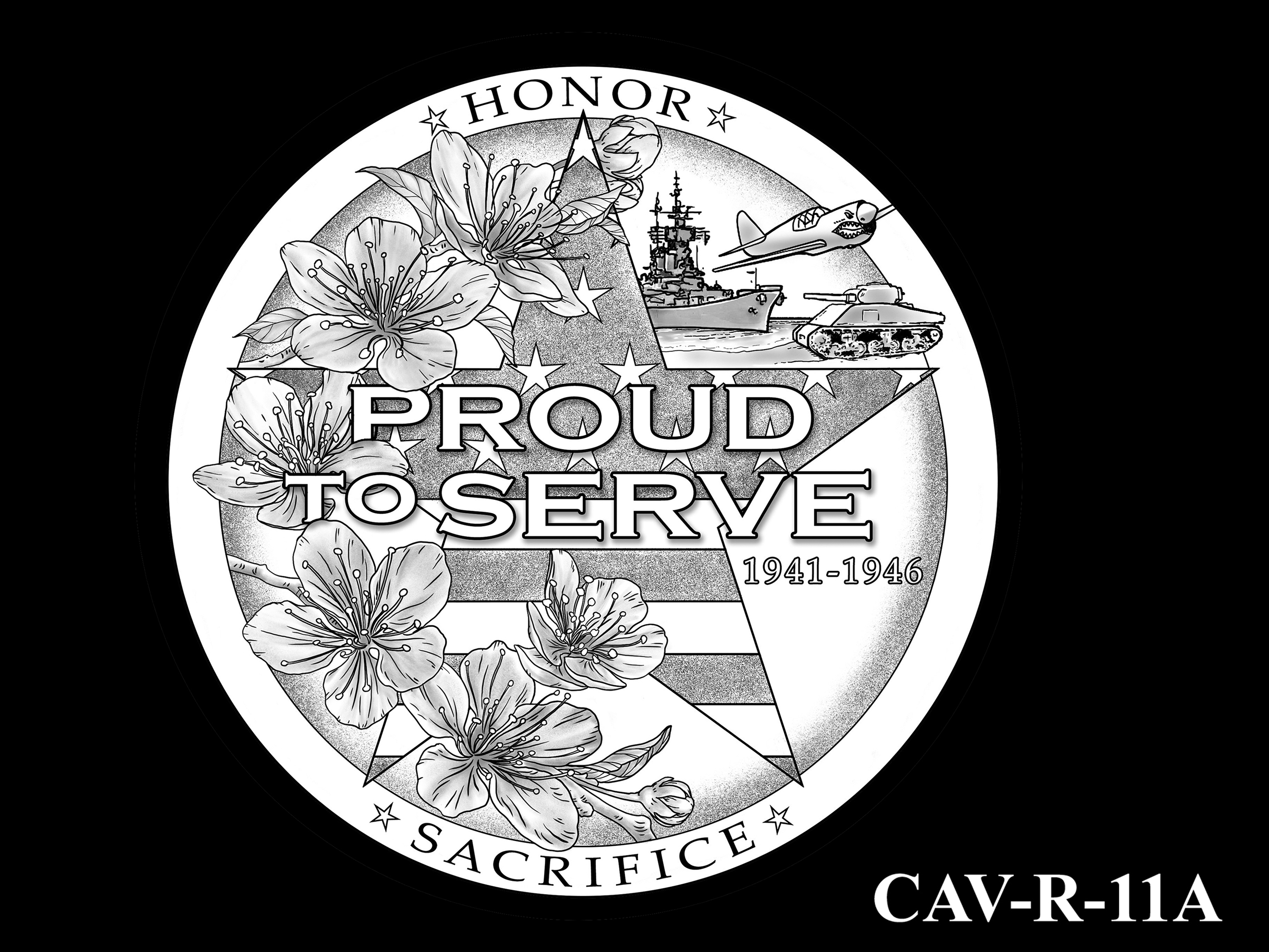 CAV-R-11A -- Chinese-American Veterans of World War II Congressional Gold Medal - Reverse