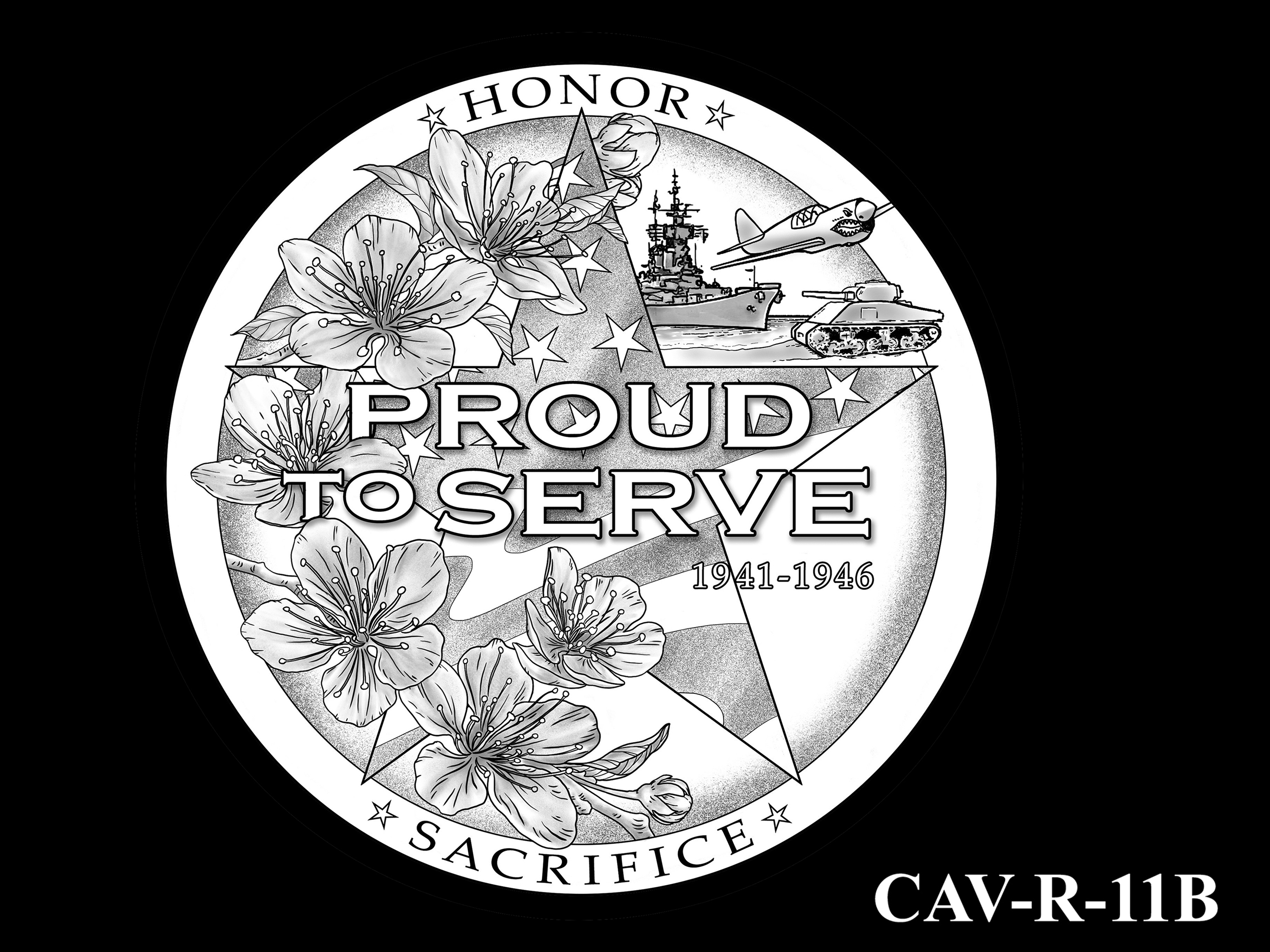 CAV-R-11B -- Chinese-American Veterans of World War II Congressional Gold Medal - Reverse