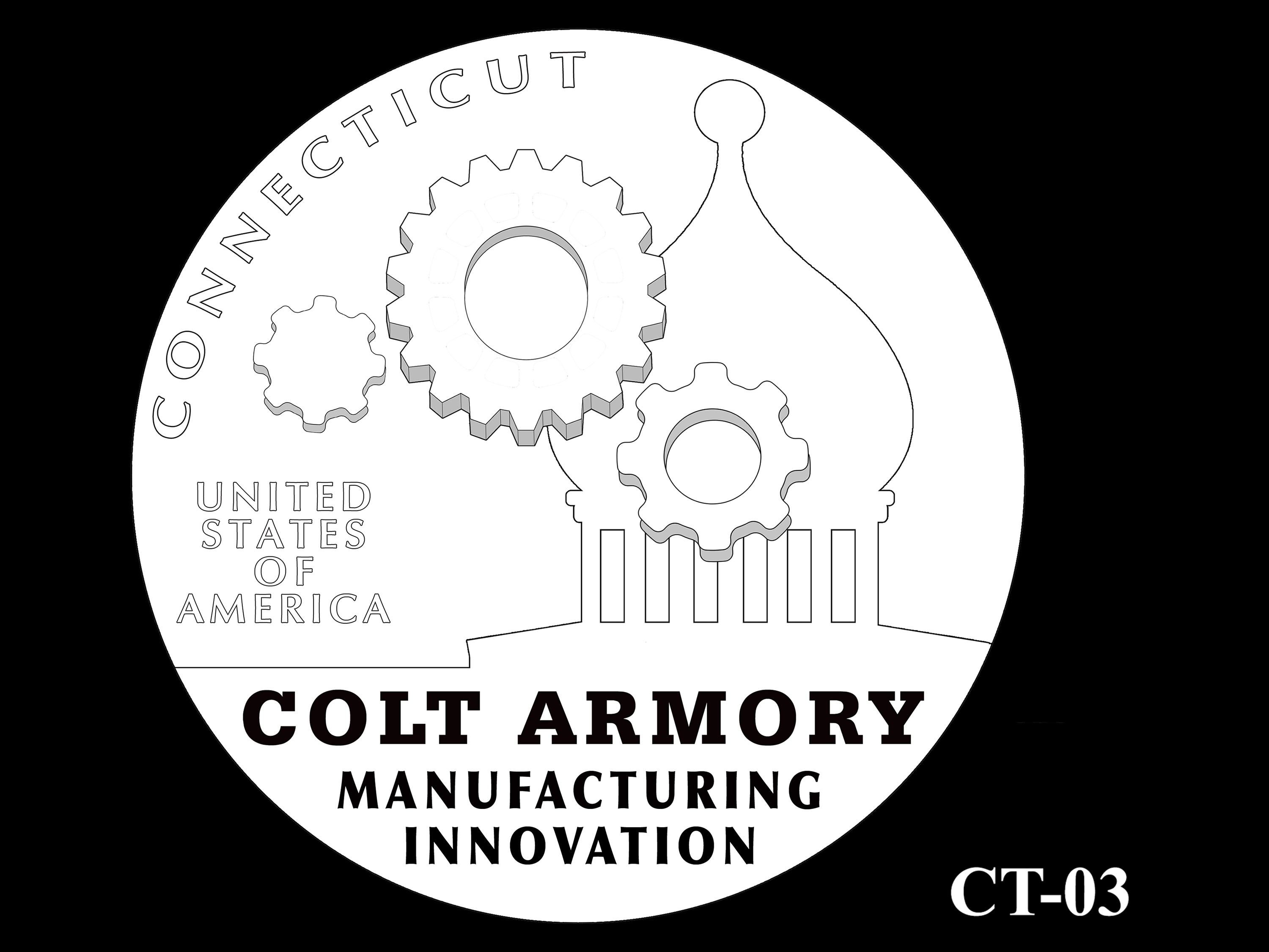 CT-03 -- 2020 American Innovation $1 Coin - Connecticut