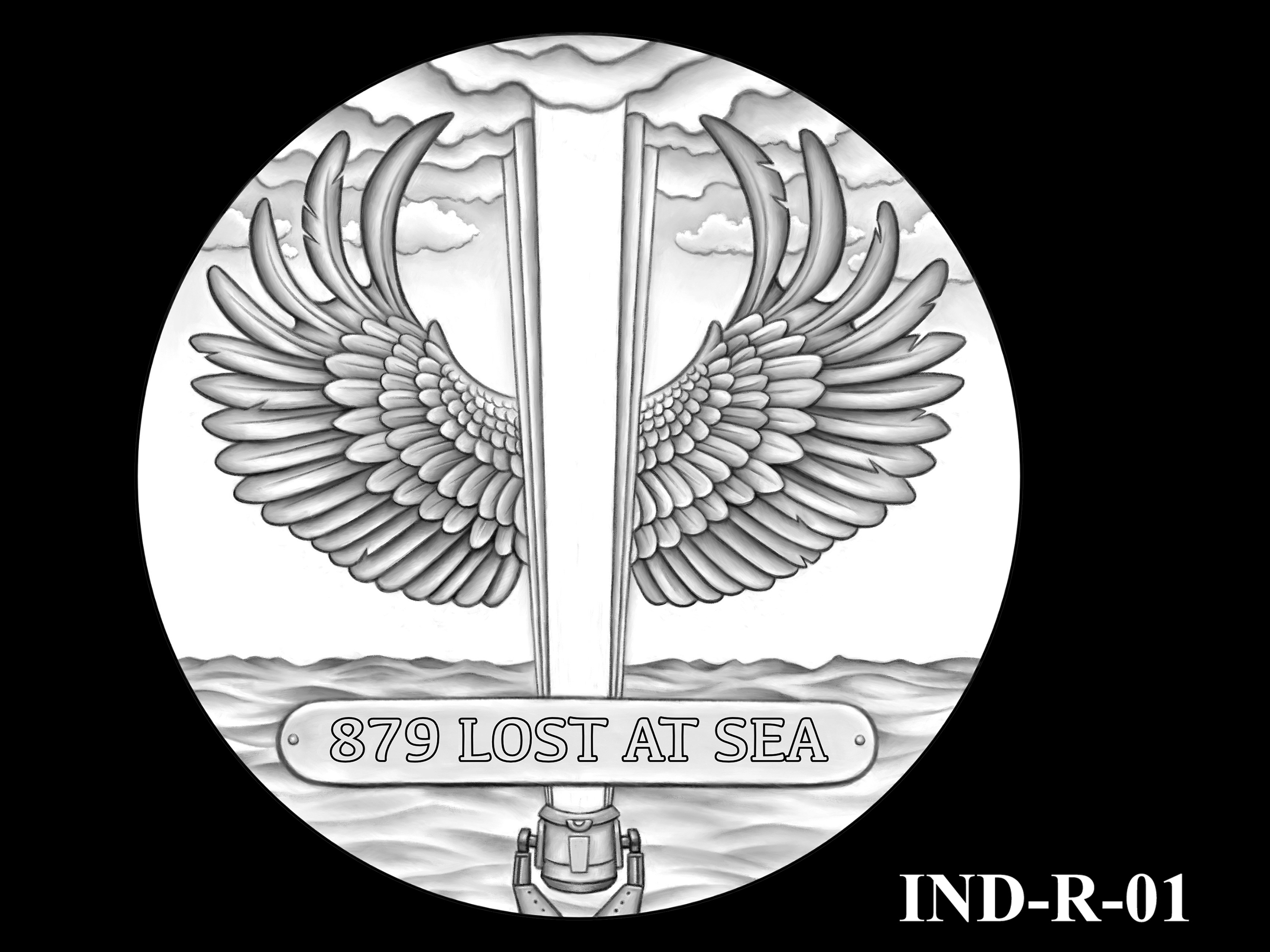IND-R-01 - USS Indianapolis Congressional Gold Medal - Reverse
