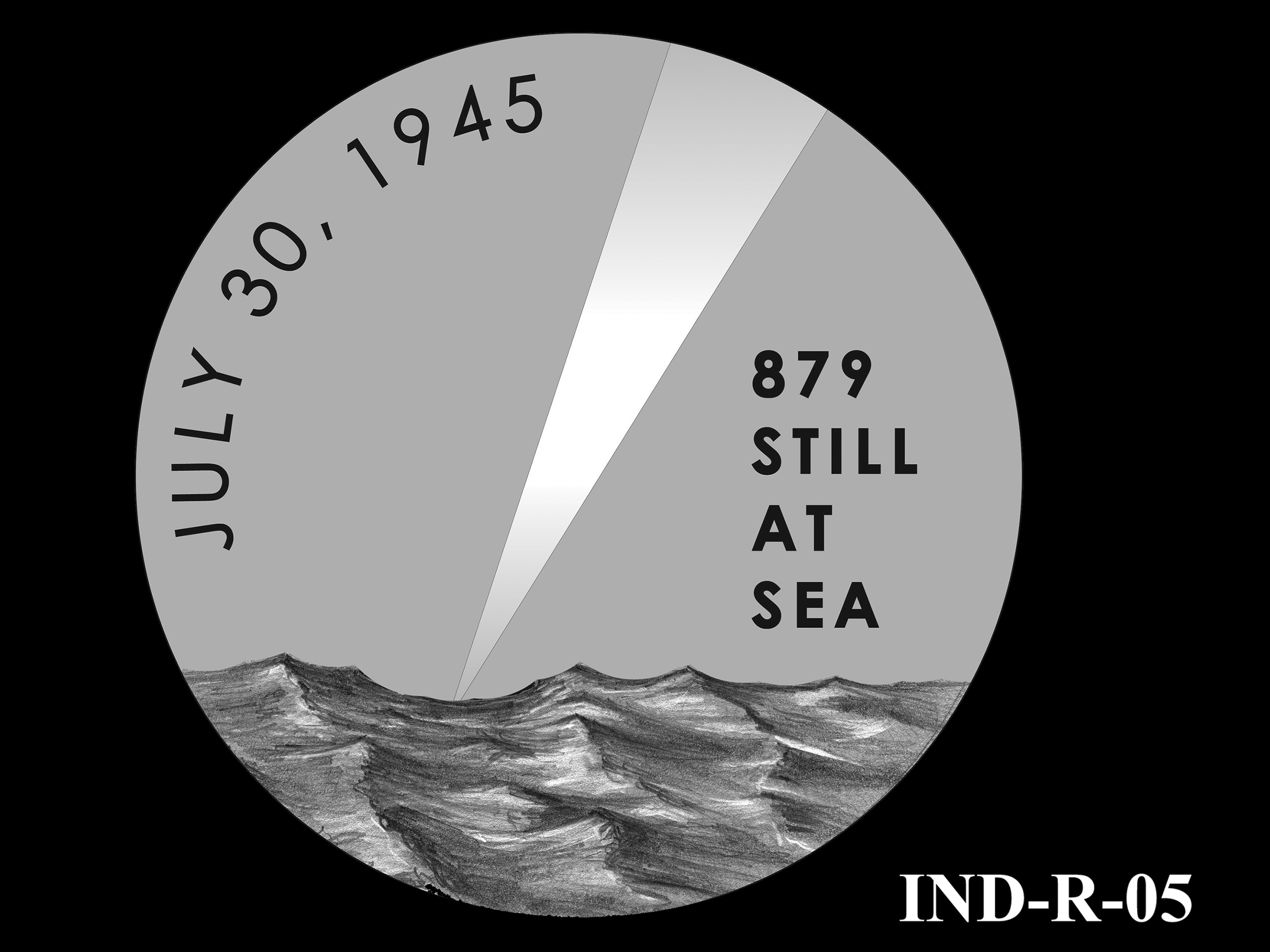 IND-R-05 - USS Indianapolis Congressional Gold Medal - Reverse