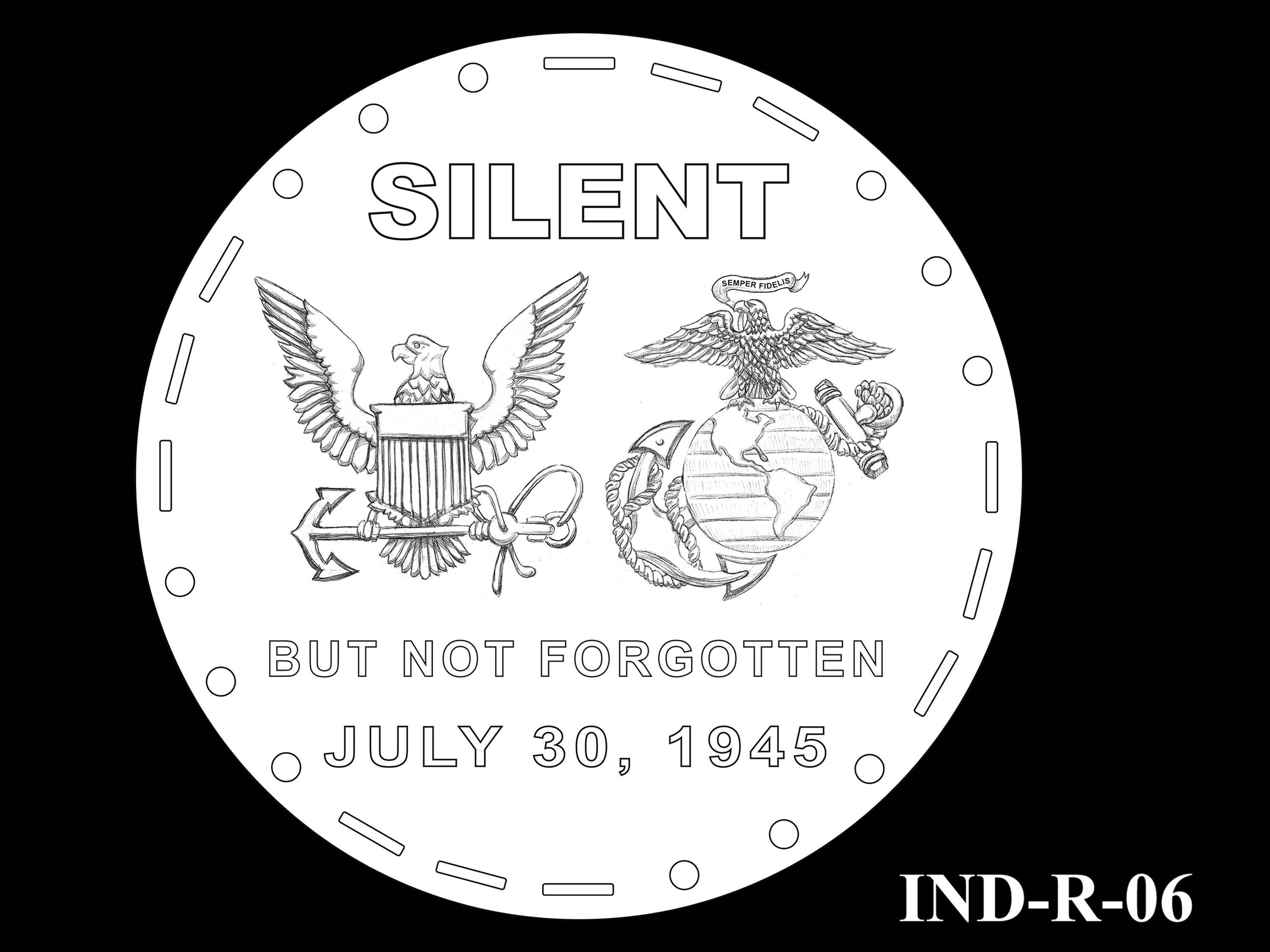 IND-R-06 - USS Indianapolis Congressional Gold Medal - Reverse