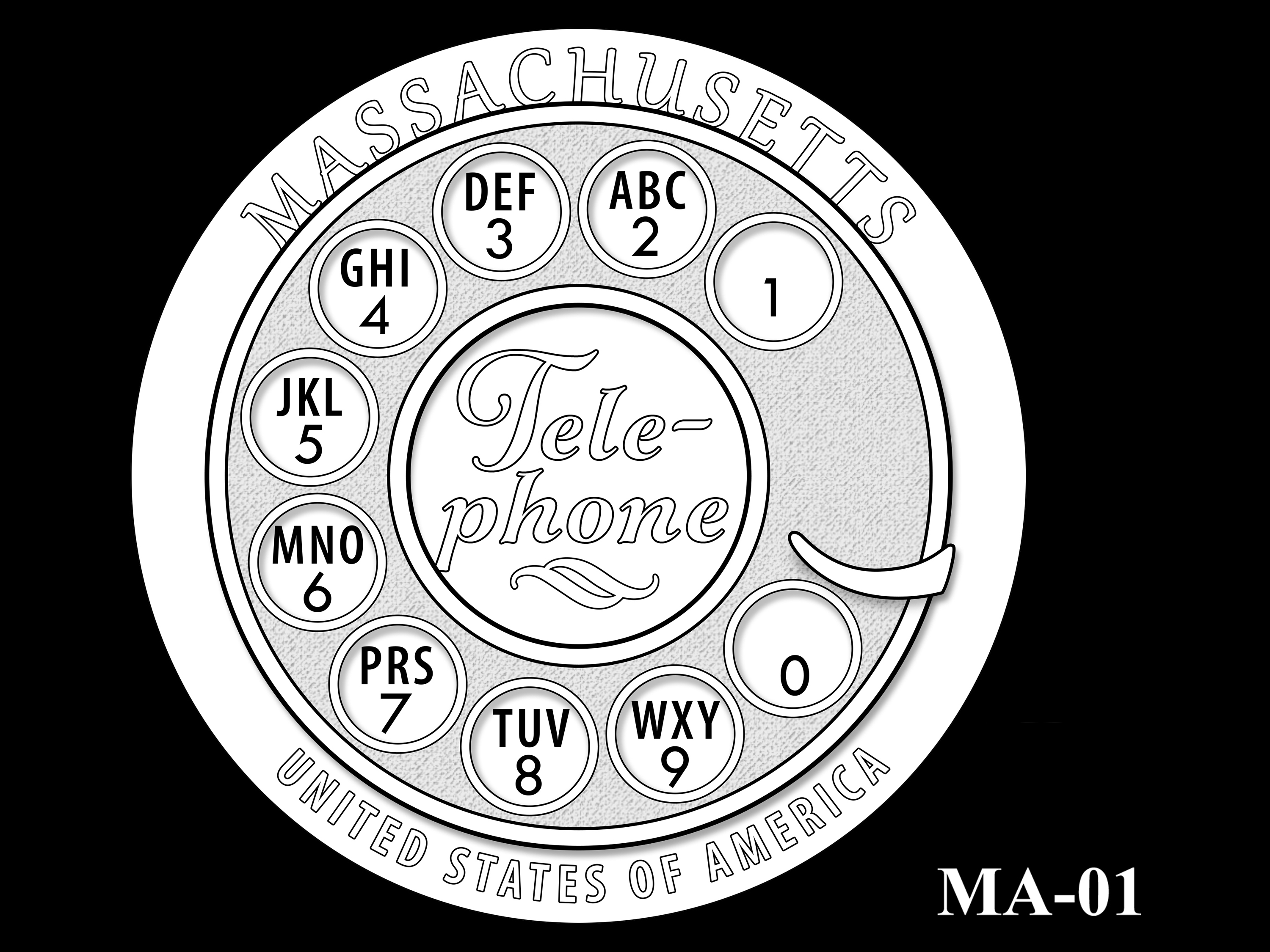 MA-01 -- 2020 American Innovation $1 Coin - Massachusetts