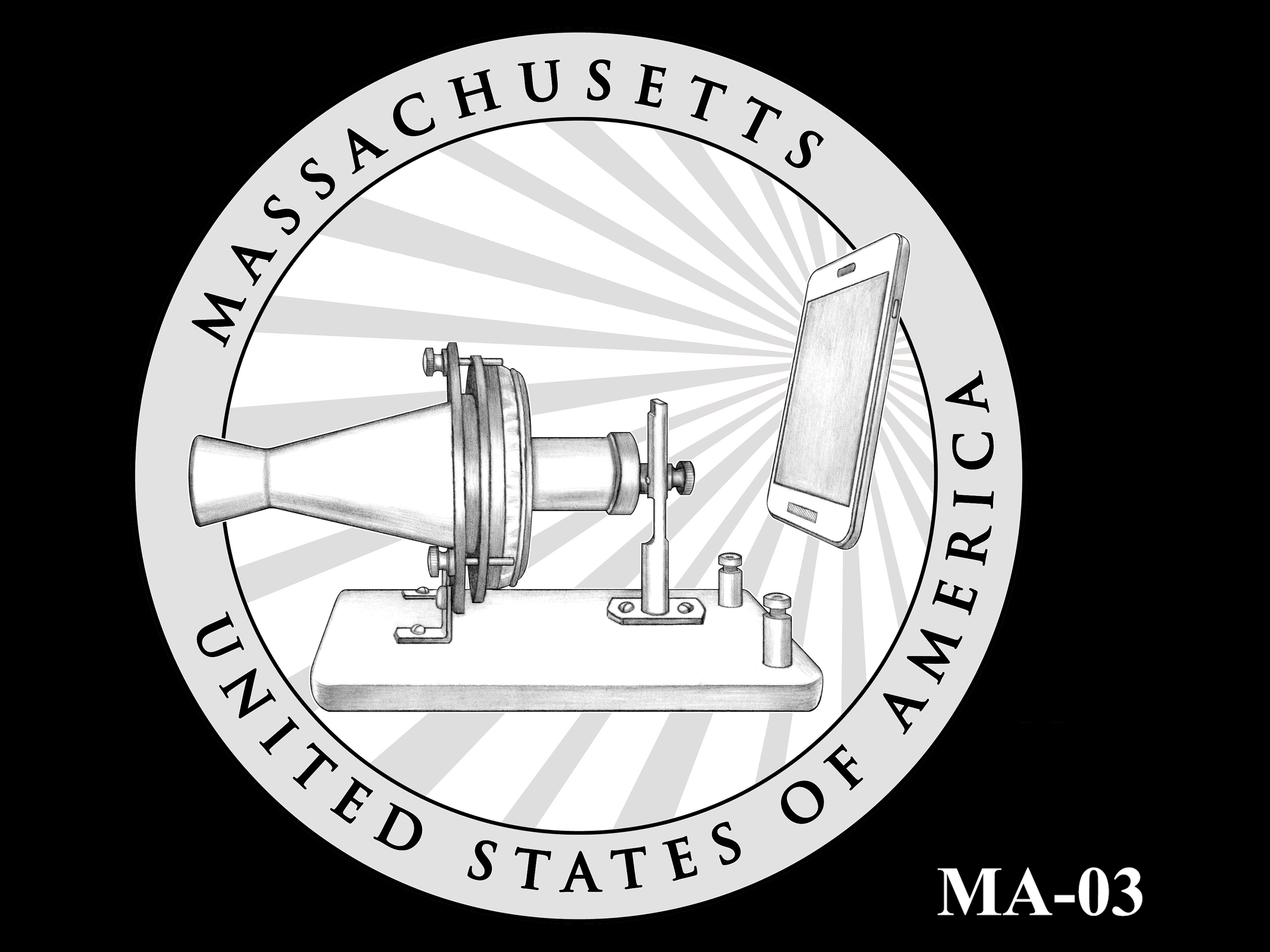 MA-03 -- 2020 American Innovation $1 Coin - Massachusetts