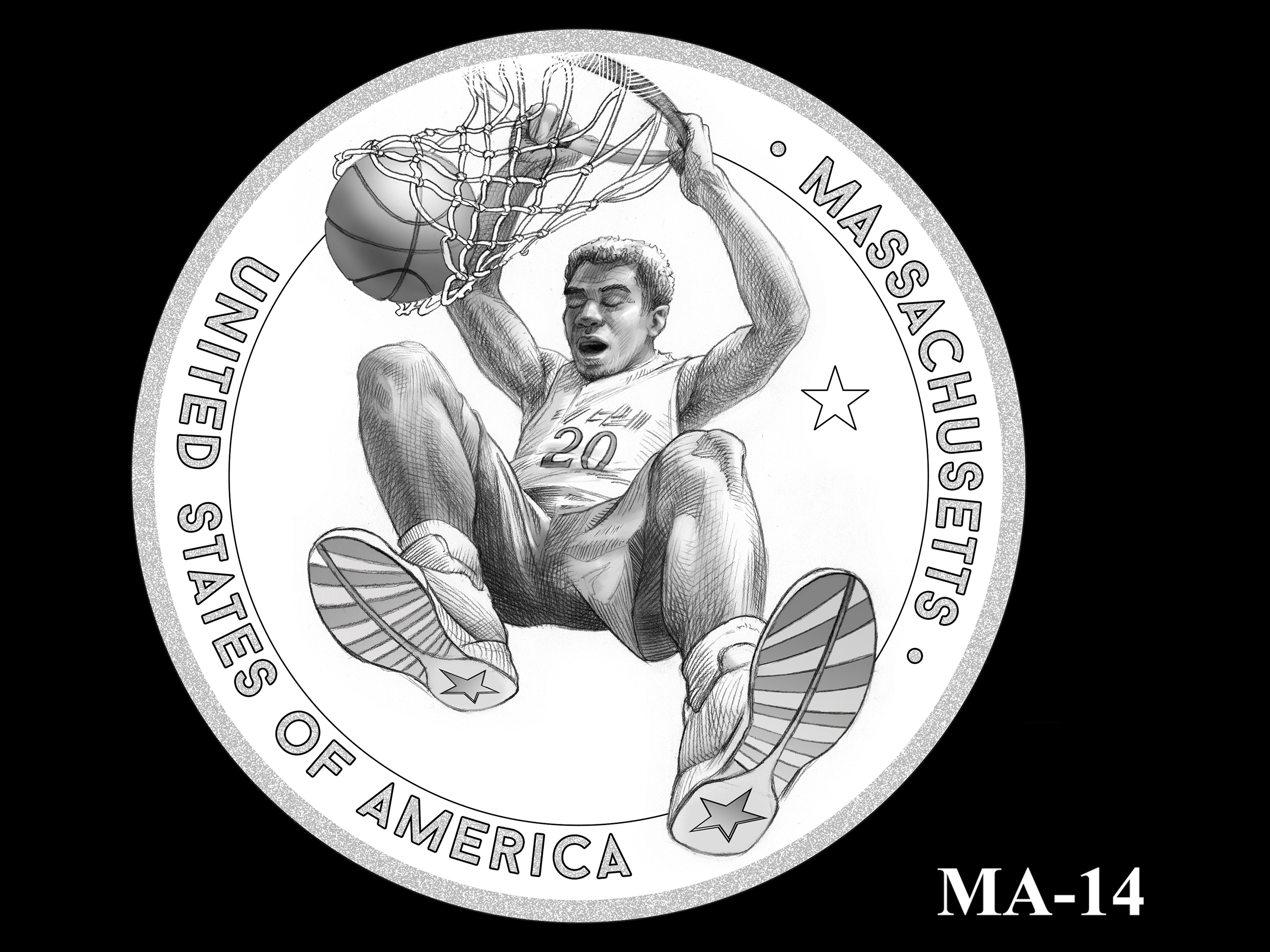 MA-14 -- 2020 American Innovation $1 Coin - Massachusetts