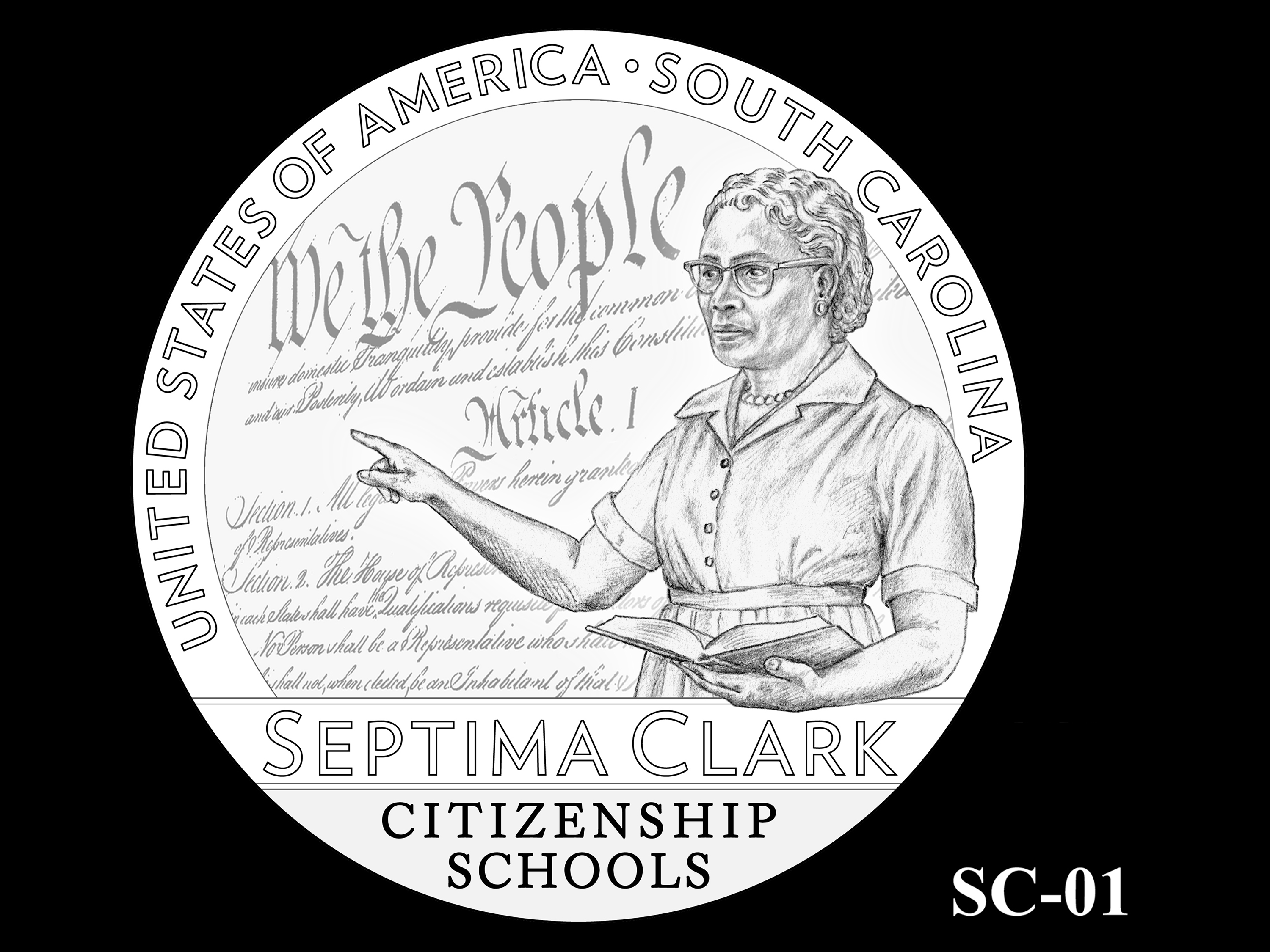 SC-01 -- 2020 American Innovation $1 Coin - South Carolina
