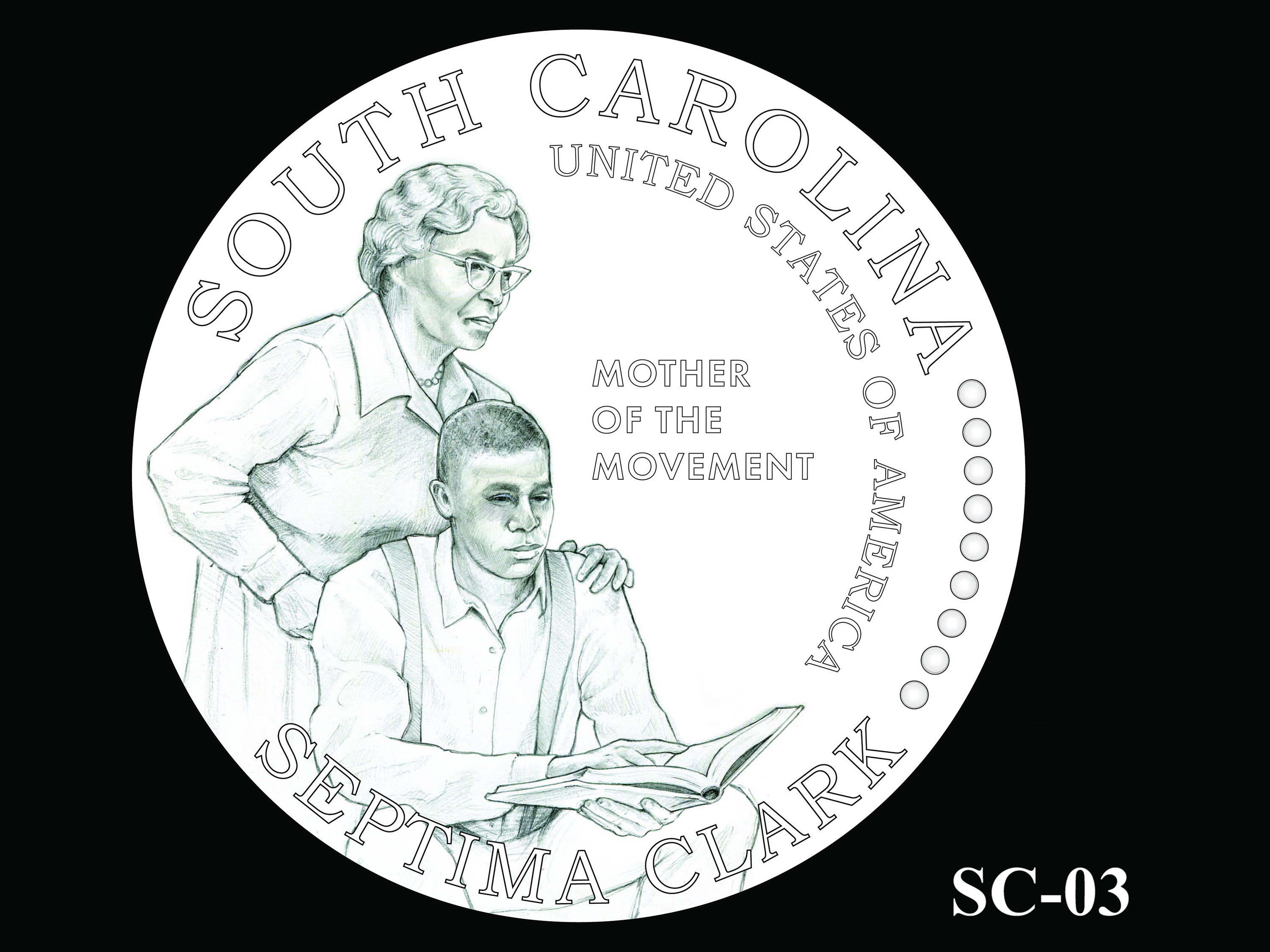 SC-03 -- 2020 American Innovation $1 Coin - South Carolina