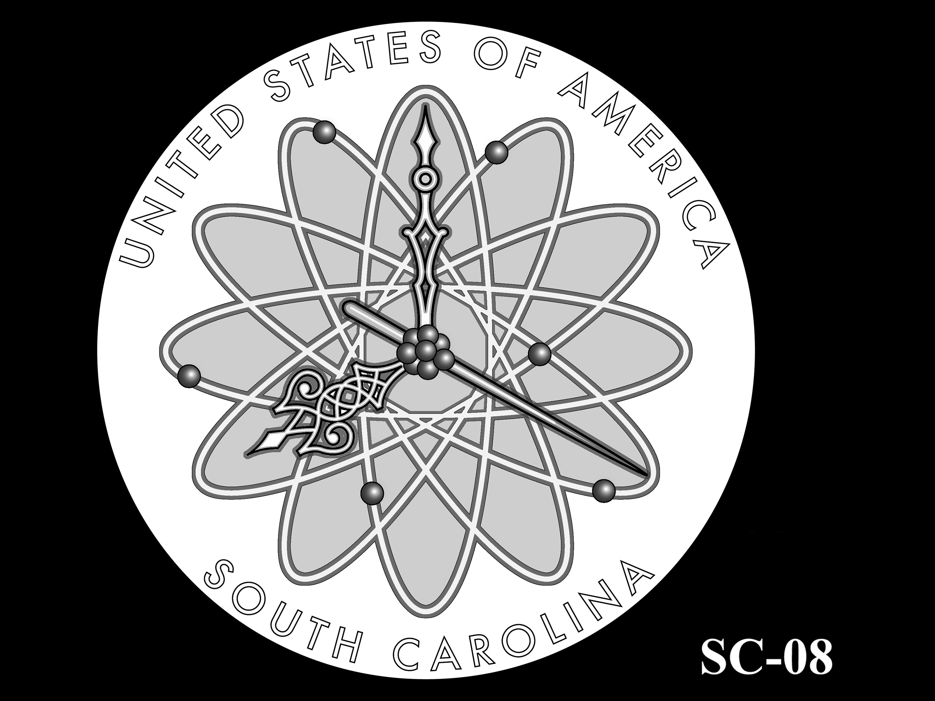 SC-08 -- 2020 American Innovation $1 Coin - South Carolina