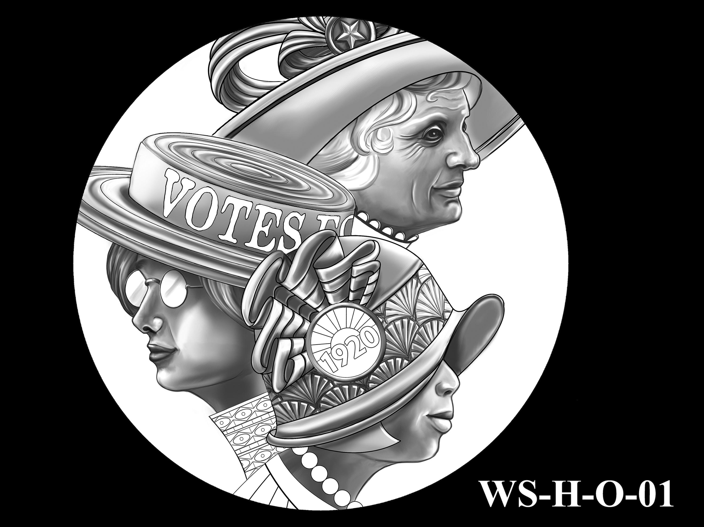 WS-H-O-01 -- Women's Suffrage Centennial Program - Historic Focus - Obverse