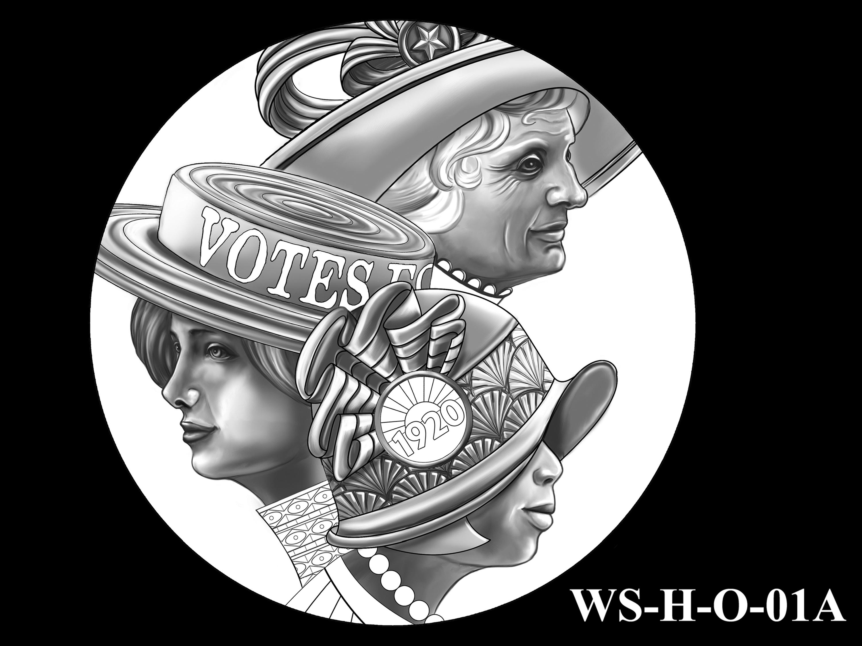 WS-H-O-01A -- Women's Suffrage Centennial Program - Historic Focus - Obverse