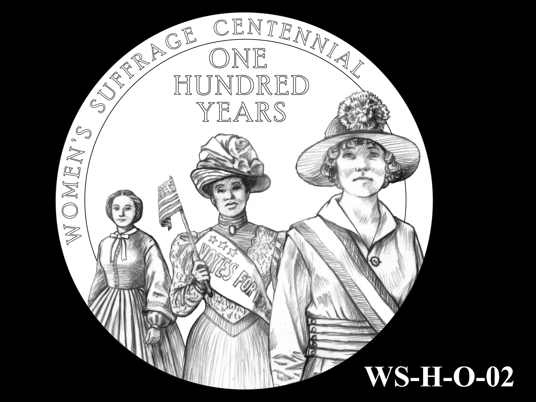 WS-H-O-02 -- Women's Suffrage Centennial Program - Historic Focus - Obverse