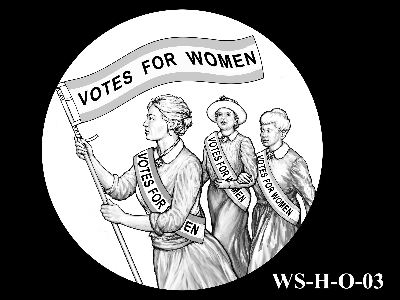 WS-H-O-03 -- Women's Suffrage Centennial Program - Historic Focus - Obverse