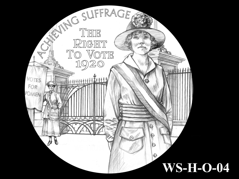 WS-H-O-04 -- Women's Suffrage Centennial Program - Historic Focus - Obverse