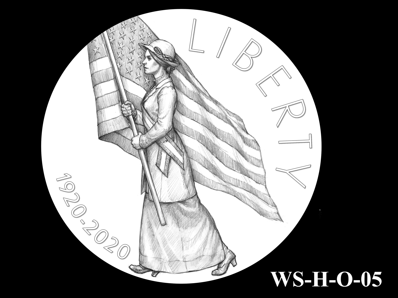WS-H-O-05 -- Women's Suffrage Centennial Program - Historic Focus - Obverse