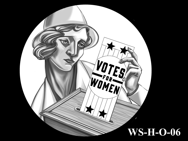 WS-H-O-06 -- Women's Suffrage Centennial Program - Historic Focus - Obverse
