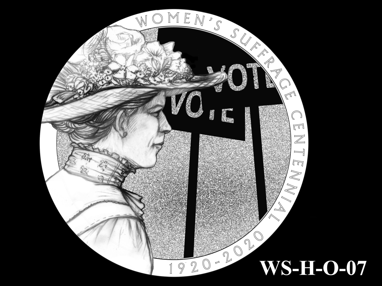 WS-H-O-07 -- Women's Suffrage Centennial Program - Historic Focus - Obverse