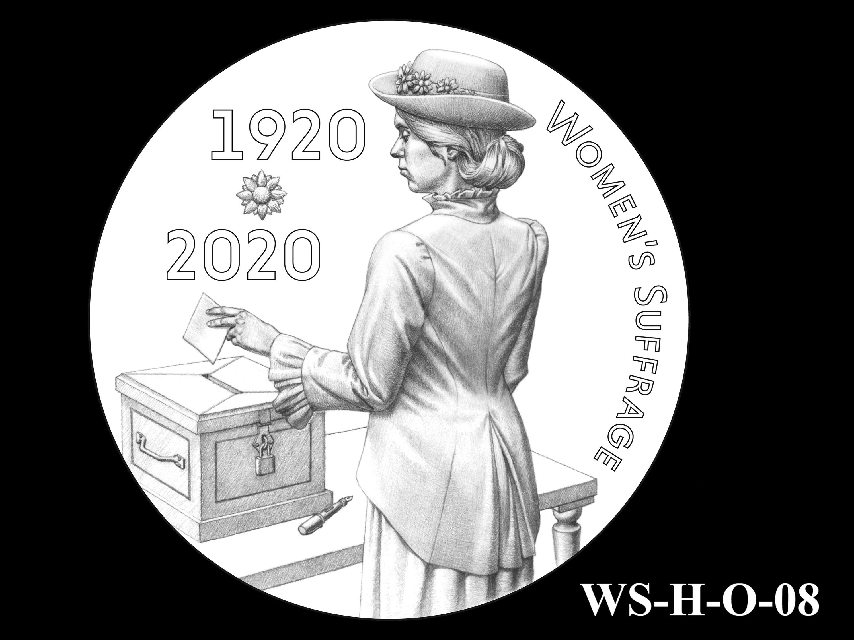 WS-H-O-08 -- Women's Suffrage Centennial Program - Historic Focus - Obverse