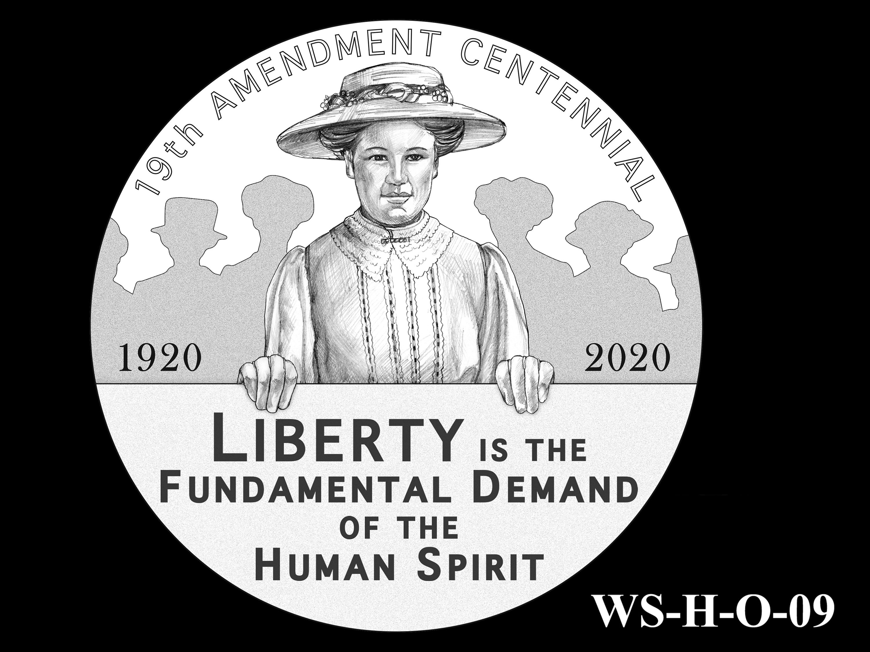 WS-H-O-09 -- Women's Suffrage Centennial Program - Historic Focus - Obverse