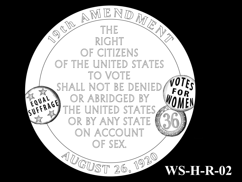 WS-H-R-02 -- Women's Suffrage Centennial Program - Historic Focus  - Reverse
