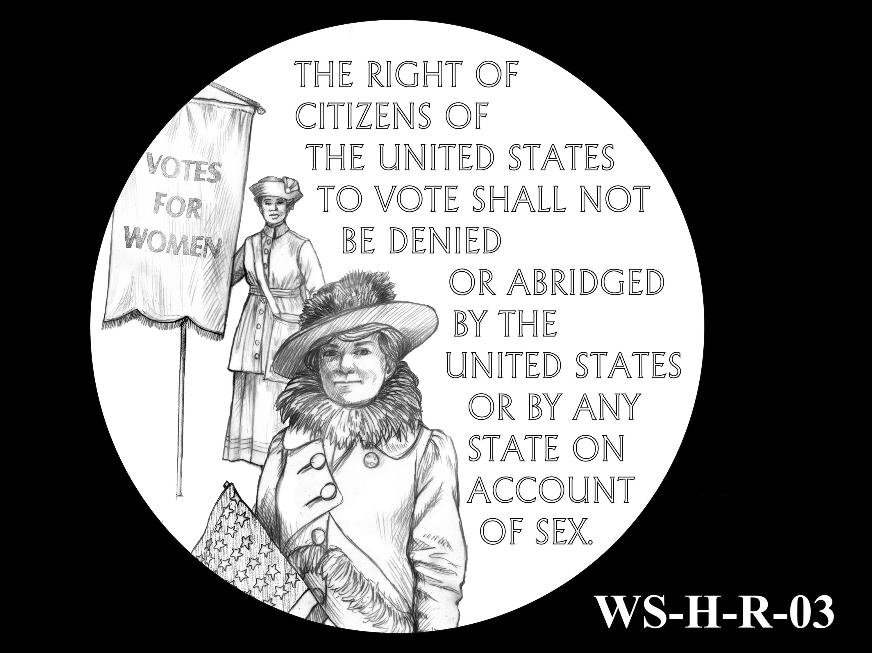 WS-H-R-03 -- Women's Suffrage Centennial Program - Historic Focus  - Reverse