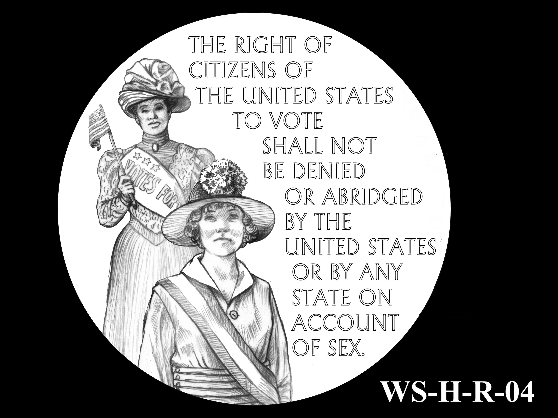 WS-H-R-04 -- Women's Suffrage Centennial Program - Historic Focus  - Reverse