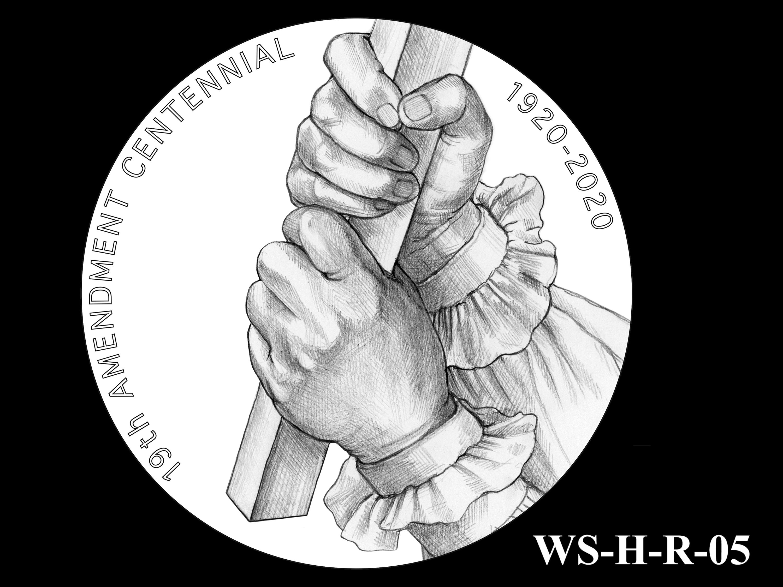 WS-H-R-05 -- Women's Suffrage Centennial Program - Historic Focus  - Reverse