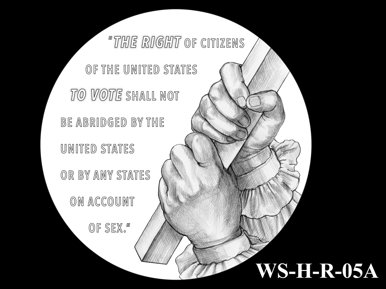 WS-H-R-05A -- Women's Suffrage Centennial Program - Historic Focus  - Reverse