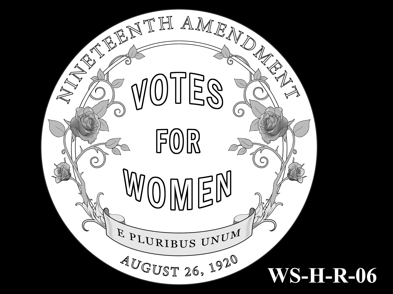 WS-H-R-06 -- Women's Suffrage Centennial Program - Historic Focus  - Reverse