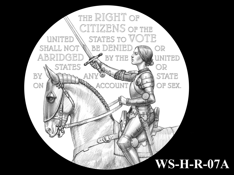 WS-H-R-07A -- Women's Suffrage Centennial Program - Historic Focus  - Reverse