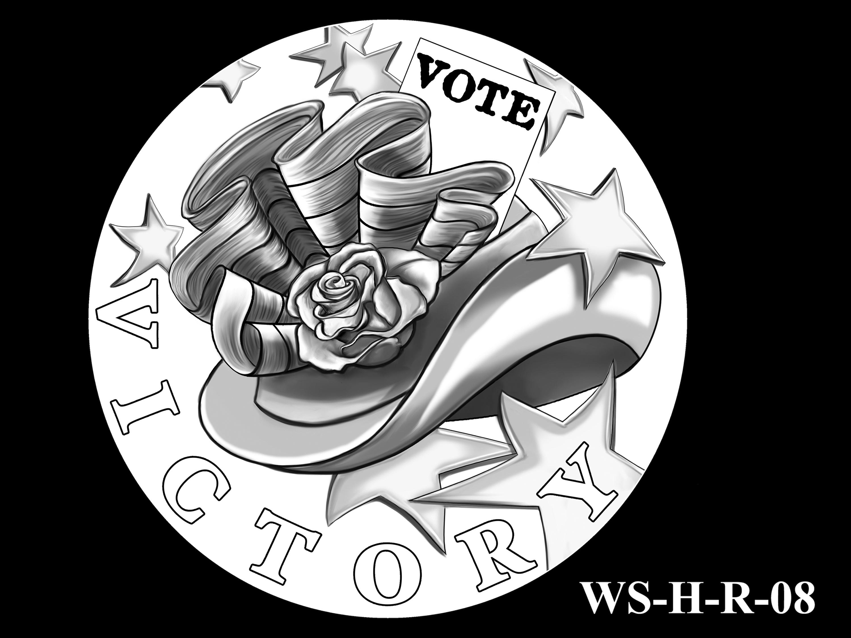 WS-H-R-08 -- Women's Suffrage Centennial Program - Historic Focus  - Reverse