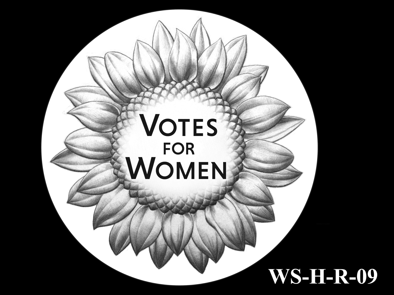 WS-H-R-09 -- Women's Suffrage Centennial Program - Historic Focus  - Reverse