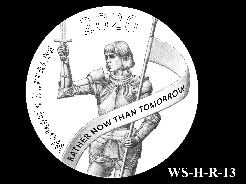 WS-H-R-13 -- Women's Suffrage Centennial Program - Historic Focus  - Reverse