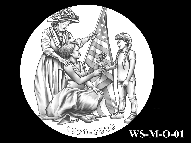 WS-M-O-01 -- Women's Suffrage Centennial Program - Modern Focus - Obverse