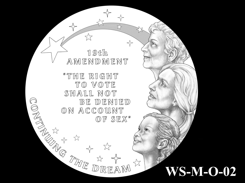 WS-M-O-02 -- Women's Suffrage Centennial Program - Modern Focus - Obverse