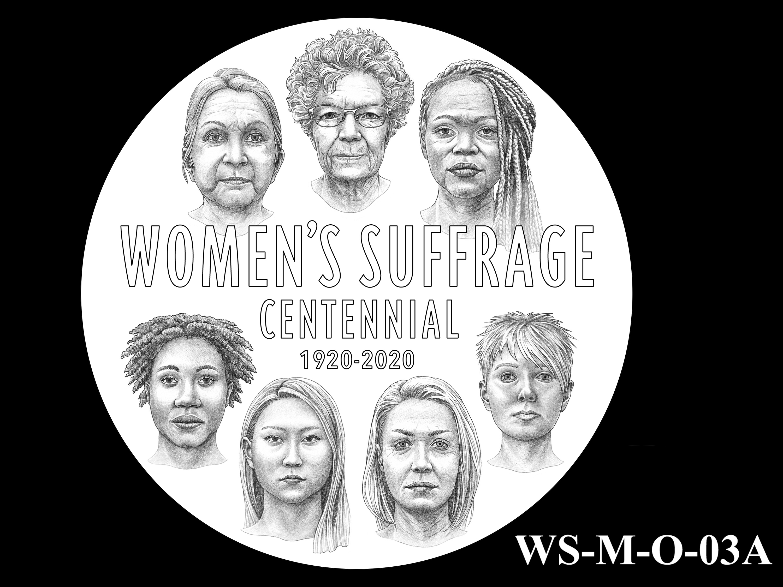 WS-M-O-03A -- Women's Suffrage Centennial Program - Modern Focus - Obverse